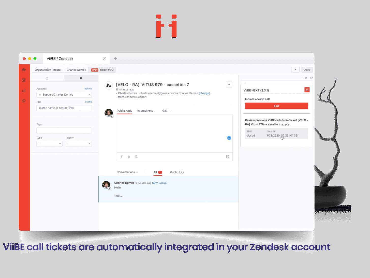 ViiBE Zendesk Integration